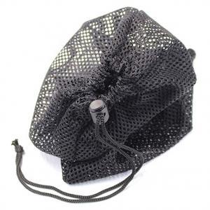 China OEM  Black Mesh Drawstring Bags Recycled Multi Functional  For Golf Ball Mini Stuff on sale