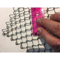 Buy cheap Light Weight Conventional Wire Mesh Conveyor Belt / Chain Link Fencing from wholesalers