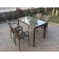 4 Seat Country Style PE Rattan Wicker Kitchen / Dining Room Sets Manufactures