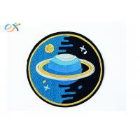 China Exquisite Round Shaped Embroidered Punk Patches Sew On Backing For Hoodies on sale