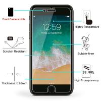 Anti Smudge IPhone Tempered Glass Screen Protector Rounded Edge Ultra Thin