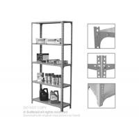China Adjustable Steel Slotted Angle Shelving Racks Five Tiers For Industrial Storage on sale