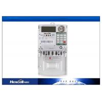 China IP54 Prepaid Energy Meter Using Smart Card , Single Phase Watt Hour Meter on sale