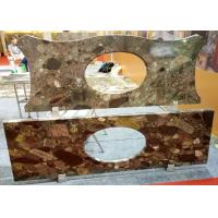 China Mosaic Bathroom Vanity Countertops Commercial Grade Polished / Honed Surface on sale