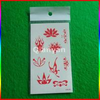 China temporary tattoo stickers, forehead red skin safe custom temporary tattoo sticker on sale