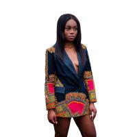 Africa Printed Dashiki Jacket Lady Fashion African Ladies Jackets Traditional Batik Prining Manufactures