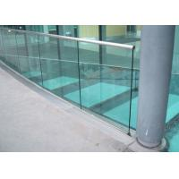 Quality Anodizing Aluminum Glass Railing Mirror / Powder Coating Solid Structure For for sale