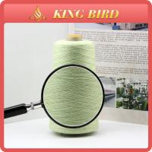 China Green cotton Spun Silk Blend Yarn 48s/2 for Hand Knitting on sale