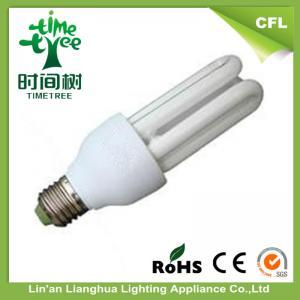 Noiseless Mixed powder High Watta U Shaped Fluorescent Light Bulbs 220V - 240V Manufactures