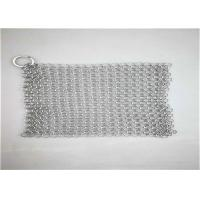 8*8inch Stainless Steel ChainmaIl Scrubber With Sqaure  Used For Pan Cleaning Manufactures