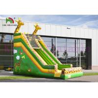 Green / Yellow Giraffe PVC Inflatable Dry Slide Customize Slide For Outdoor Activities Manufactures