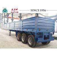 Drop Side Trailer With 1.2 Meter Side Wall , Flatbed Utility Trailer Spring Suspension Manufactures