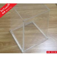 Acrylic Trash Bin Acrylic Holder Stand Smooth Edges For Home Manufactures
