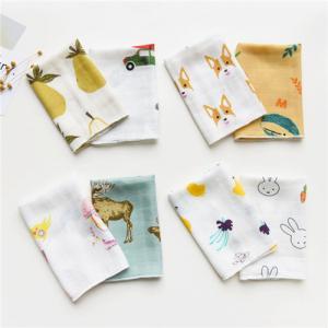 Cute Animal Pattern Baby Muslin Handkerchief Cloth Custom Printing Manufactures