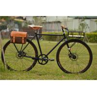 Canti-lever brake colorful hi-ten steel  big 28 size retro city bike with basket made in China Manufactures