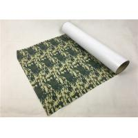 Army Camouflage PU Vinyl Transfer Film Soft Hand Feeling Good Color Saturation Manufactures