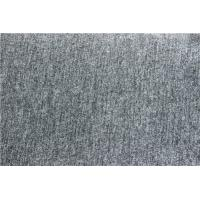Silver Grey Wool Jacquard Fabric Blend For Mens Collection Ventilated Manufactures