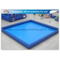 Rectangular Inflatable Swimming Pool Above Ground , Backyard Inflatable Pool For Family Manufactures