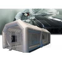 China Silver Protable Inflatable Spray Paint Booth 8x4x3m / Mobile Car Painting Station on sale