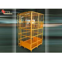 Q235 Steel Foldable Workshop Logistics Trolley 4 Layers Without Caster