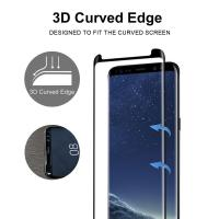 Full Screen Coverage [Case Friendly] Tempered Glass Bubble-Free 3D Curved Screen Protector for Samsung Galaxy Note8 Manufactures