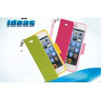 Colorful Stand iphone 4 Cell Phone Leather Cases Soft PU Leather Manufactures