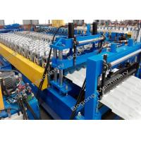 China High Efficiency Roof Tile Roll Forming Machine 0.3 - 0.6mm Material Width on sale