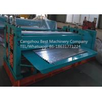 ARC Waves Bending Roofing Sheet Roll Forming Machine Chain / Gear Box Driven System Manufactures