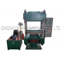 China Manual Control 100T Hydraulic Steel Bonded Rubber Molding Press Machine With 600 * 600mm heating Plates on sale