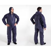 Non Woven PP+PE Coated Protective Disposable Coverall Suit Navy Blue Manufactures