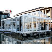 100 People Luxury Transparent Aluminium Tent  with Air Conditioners for Weddings Manufactures