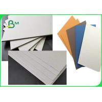 FSC & SGS Approved Colorful Laminated Grey Board Grade AAA / AA With 1MM 1.28MM 2MM 3.2MM Manufactures