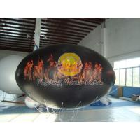 Waterproof and Fireproof Black 0.18mm PVC Oval Balloon with Total Digital Printing Manufactures