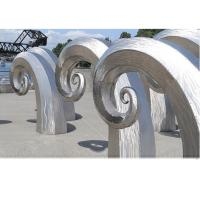 Public Art Large Metal Wave Sculpture , Outdoor Abstract Steel Sculpture Manufactures