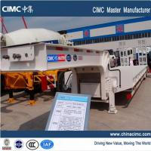 CIMC dual axles 35 tons lowboy trailer Manufactures