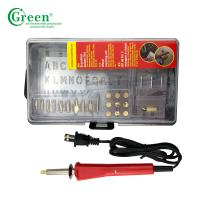 Pyrography Electric Iron Wood Burning Kit / Tool 110-240V Green PS2000 Manufactures