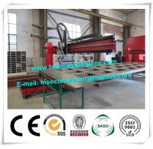 China Corrugated Beam Welding Machine For Dump Truck Panel , H Beam Welding Line on sale