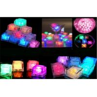 Transparent Colored LED Ice Cube Lights For Drinks Powered With CR1220 / 1225 / ag3 Battery Manufactures