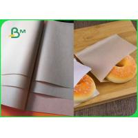 FSC 40gsm 50gsm Food Grade Brown Kraft Paper For Disposable Bakery Bags Manufactures