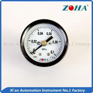 China Industrial 40mm Back Mount Pressure Gauge , 0.1Mpa Plumbing Air Pressure Meter on sale