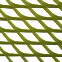 Quality A1060 Colorful Powder Coating Expanded Aluminum Mesh For Curtain Wall for sale
