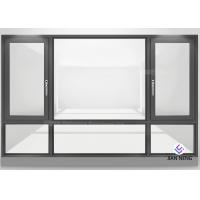 China Double Glazed Aluminum Frame Window Horizontal Opening Pattern Finished Surface on sale