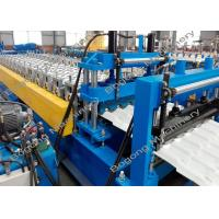Color Steel Roof Tile Roll Forming Machine 7.5KW Driving Motor For Construction Manufactures