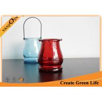 330ml Color Glass Hanging Candle Holder , Haning Colored Glass Jar Manufactures