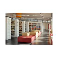 Cultural center Study Architecture project design by White wood bookcase and Reading desk Manufactures