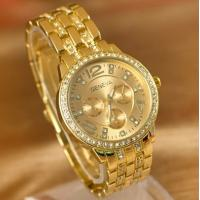 China Gold Gilding Watch Business Style Fashion Watch for Men or Women on sale