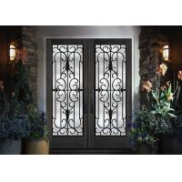 Buy cheap Home Decration Tempered Wrought Iron Door Glass Silk Screening 22*64 Inch from wholesalers