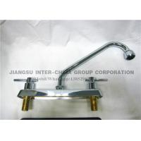 Wall Mounted Pull Down Kitchen Sink Faucets , Polished Brass Bathroom Faucets Manufactures