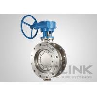 Uni Directional Triple Eccentric Butterfly Valve Double Flanged WCB CF8 CF8M Manufactures