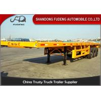 Container Lock Flatbed Container Trailer 40 Tons Payload 20 Feet / 40 Feet Manufactures